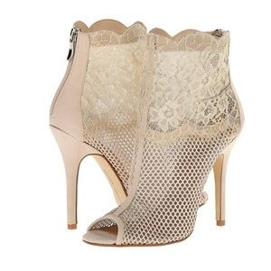 Chinese Laundry Jeopardy Lace and Mesh Bootie